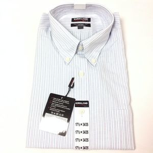 New Kirkland Signature Men's Dress Shirt Striped